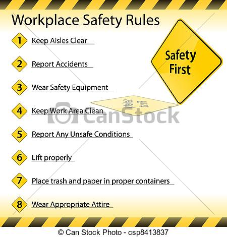 Workplace Safety    Csp8413837   Search Clipart Illustration