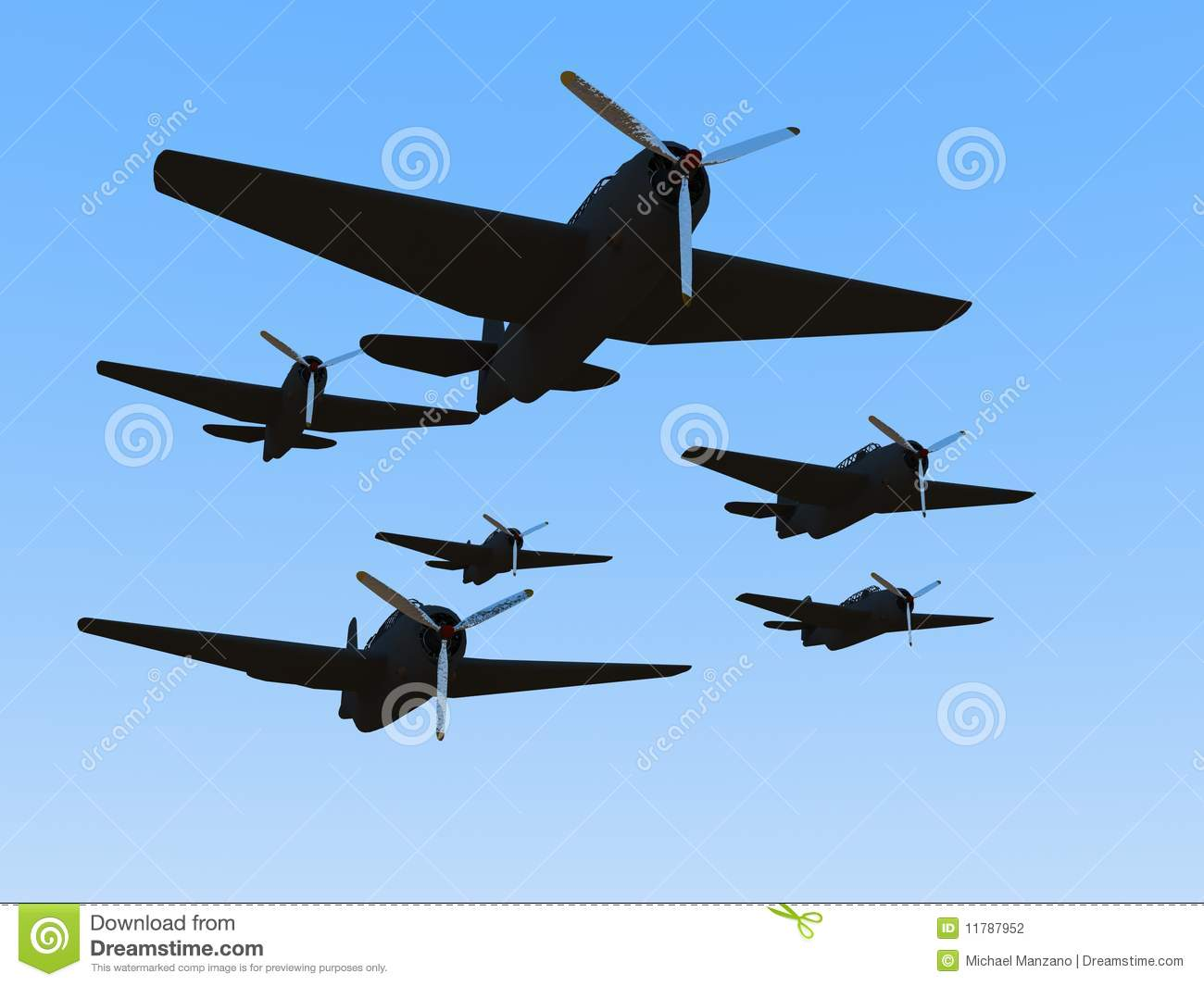 Ww2 American Planes Clipart Old World War Ii Plane Stock