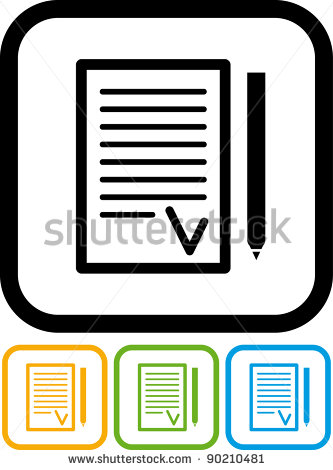 Agreement Icon Signed Agreement Vector Icon