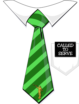 Called To Serve Missionary Tag Tie Green 400x3042 Png