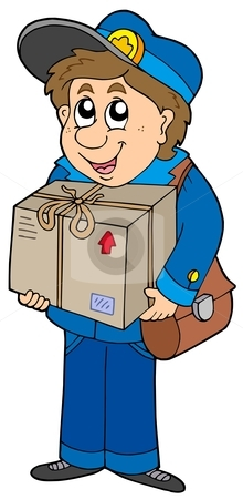 Clip Art Mailman With Mail Hat Clipart   Cliparthut   Free Clipart