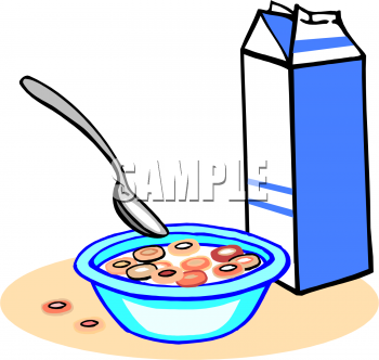 Clipart Image Of A Bowl Of Cereal And Milk   Foodclipart Com