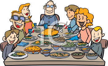 Dinner Clipart   Eating Dinner Clipart   Eating Dinner Clipart