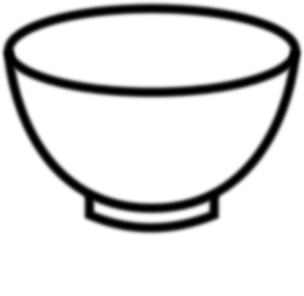 Empty Bowl Black And White Clip Art At Clker Com   Vector Clip Art