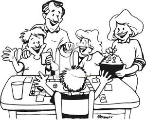 Family Eating Together Clipart - Clipart Kid