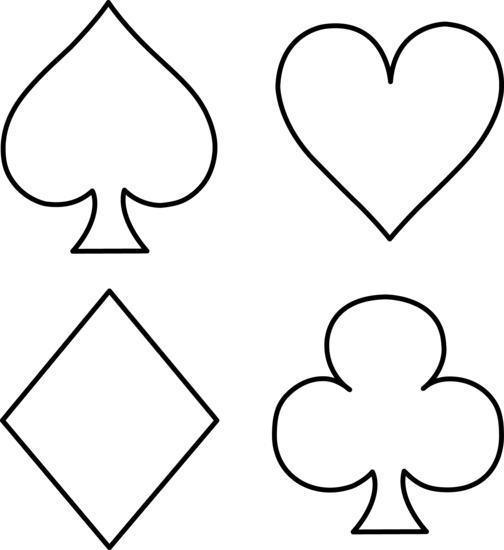 Playing Card Symbols Clipart - Clipart Kid
