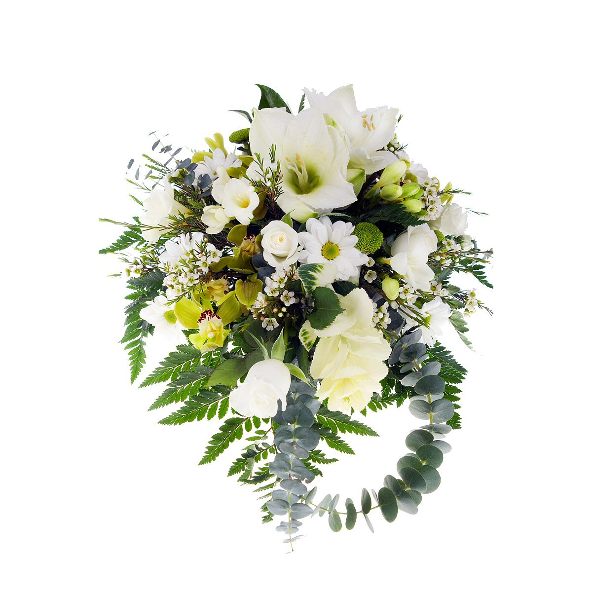Home   Business Flowers   White   Cream Bouquet