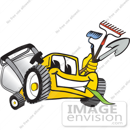 Landscaping Tools Clipart  27443 Clip Art Graphic Of A