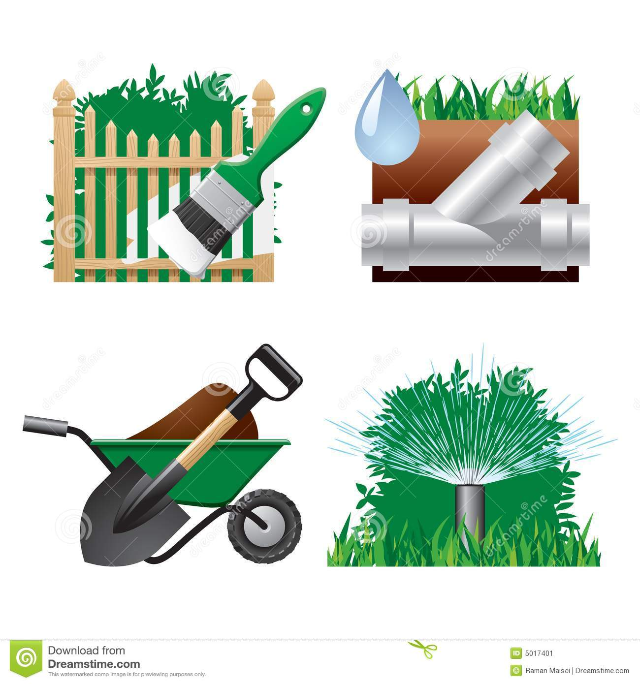 Landscaping Tools Clipart Landscaping Icons Stock Image