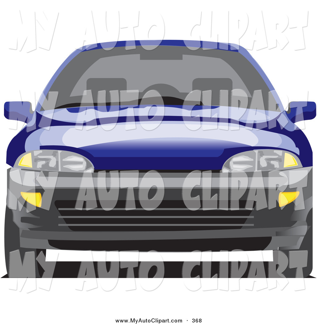 Larger Preview  Clip Art Of A Blue Chevy Cavalier Driving Forward By