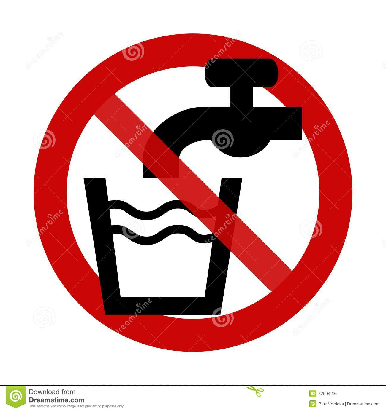 No Alcohol Clipart Sign  No Drinking Water