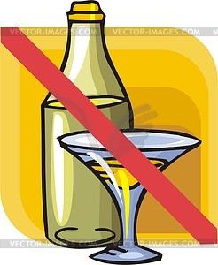 No Drinking   Vector Clipart