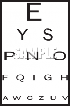 Royalty Free Clip Art Image  Vision Test Eye Chart