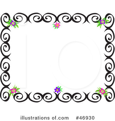 Royalty Free  Rf  Border Clipart Illustration By Bpearth   Stock