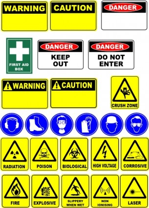 Safety Signs Clip Art Free Vector 280 51kb