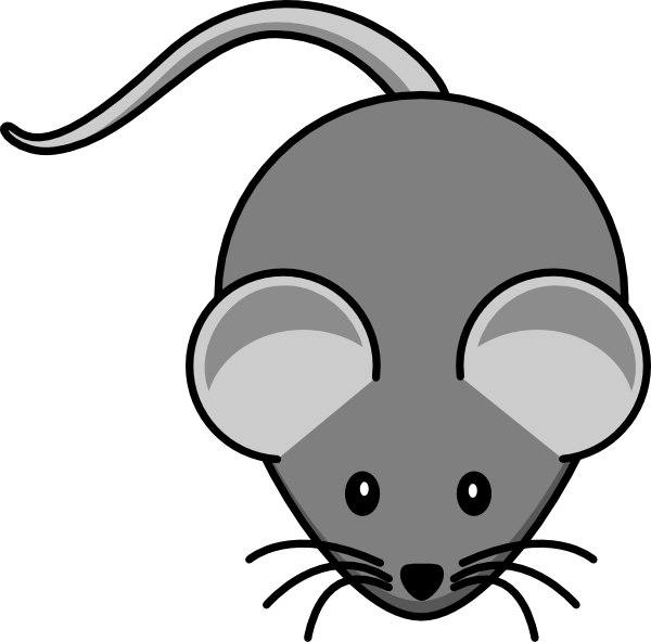 Simple Mouse Dark Grey Clip Art At Clker Com   Vector Clip Art Online