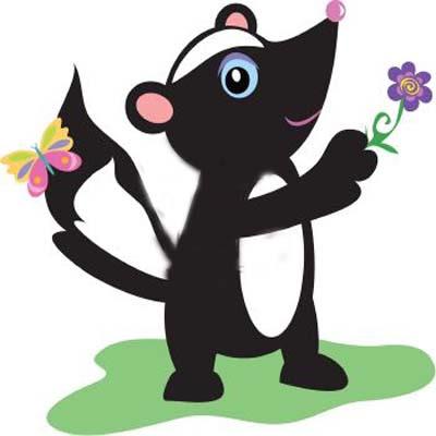 Cartoon Skunk Draw Clipart - Clipart Kid