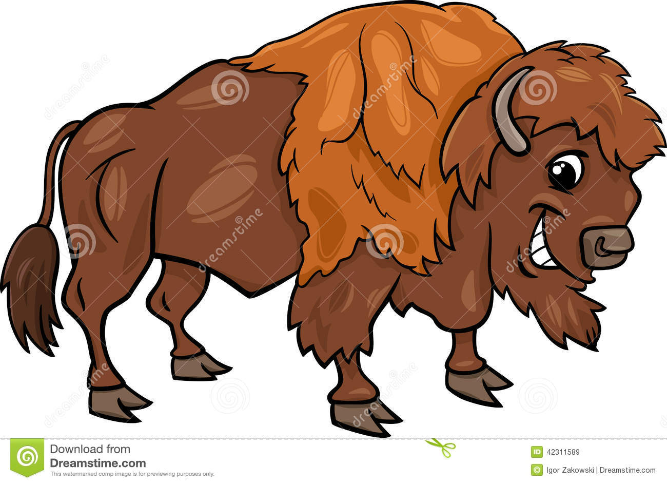 Baby Bison Clipart Bison American Buffalo Cartoon