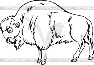 Baby Bison Clipart Bison Clip Art Black And White