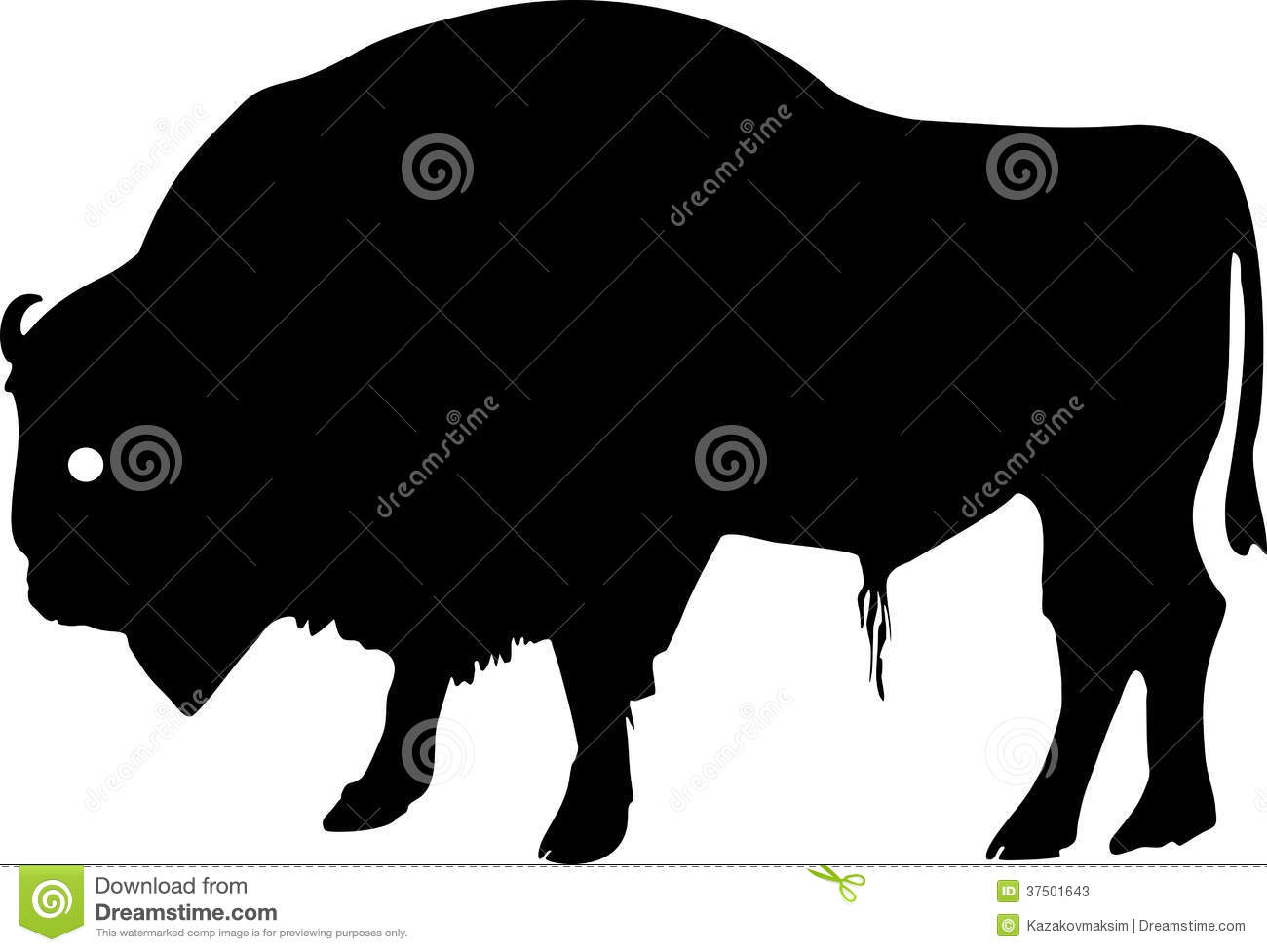 Baby Bison Clipart Bison Silhouette Clipart
