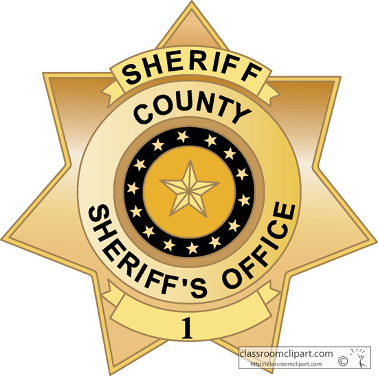 Badges   County Sheriff Badge 1813   Classroom Clipart