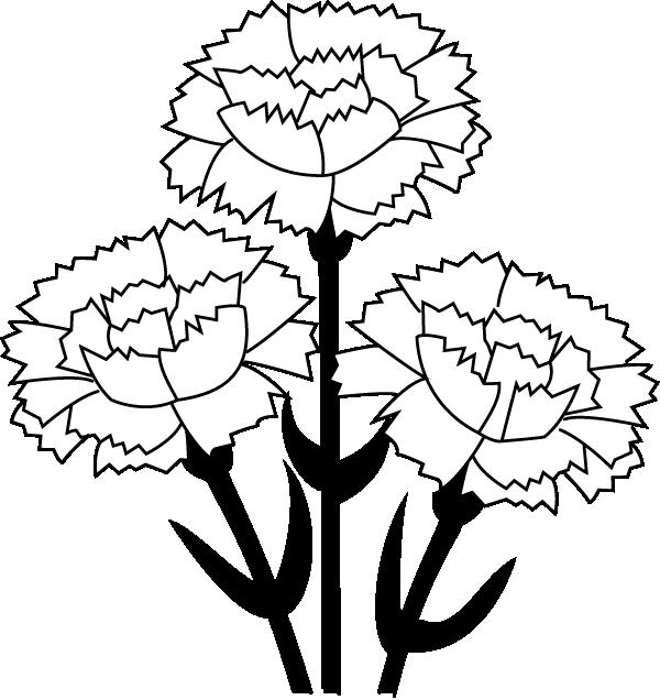 Clip Art Carnation Clip Art white carnation clipart kid clip art best