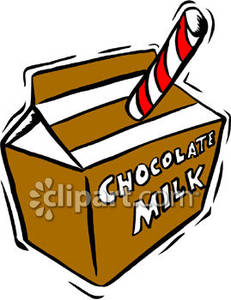 Carton Of Chocolate Milk   Royalty Free Clipart Picture