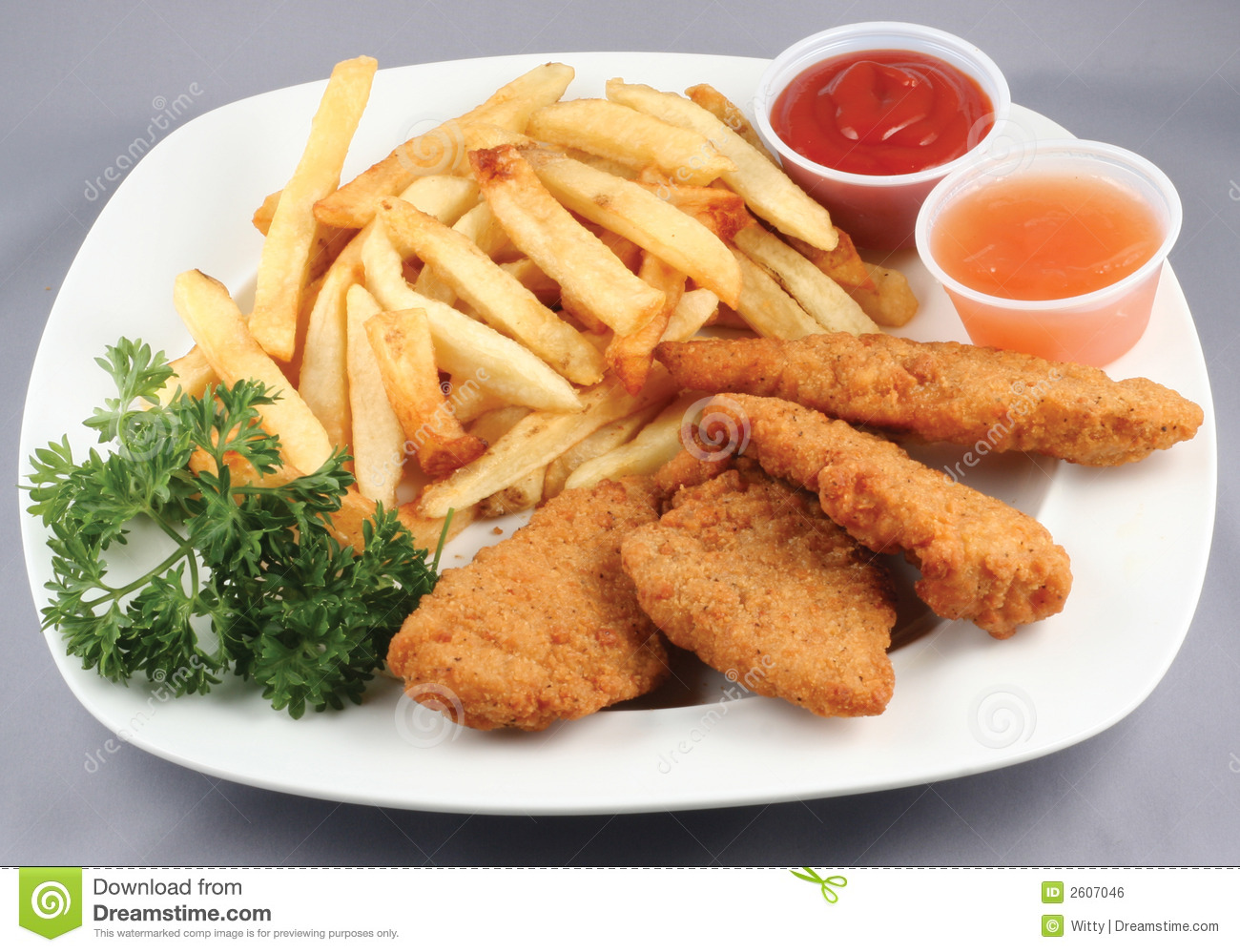 Chicken Tenders And Fries Clipart