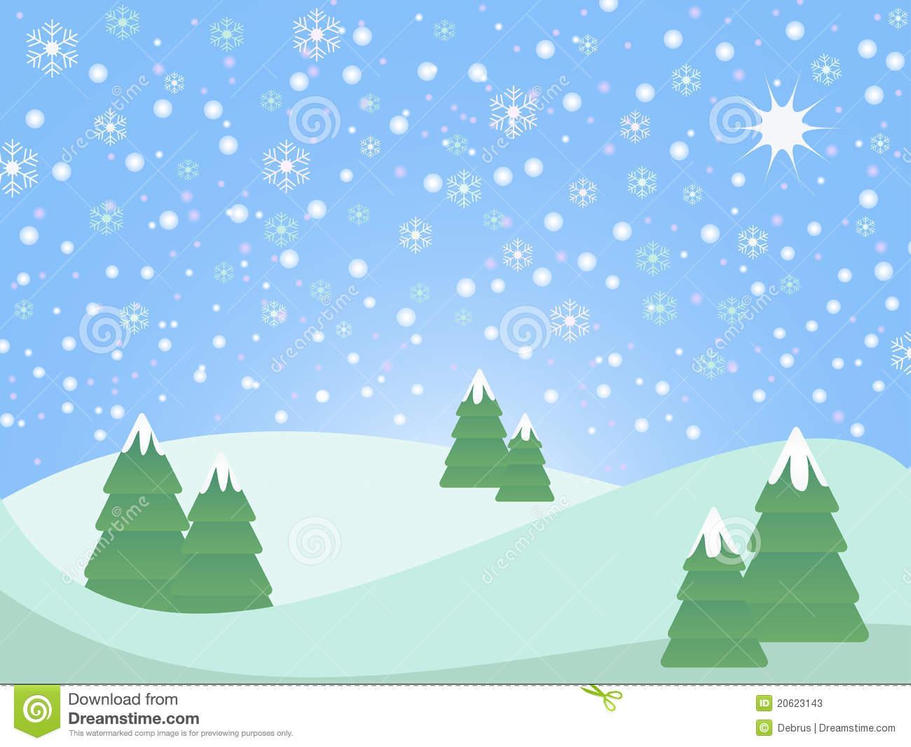 clipart snow scene - photo #33