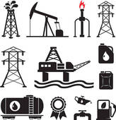 Clipart Drilling Tower Around An Oil Gusher Clipart Illustration Html