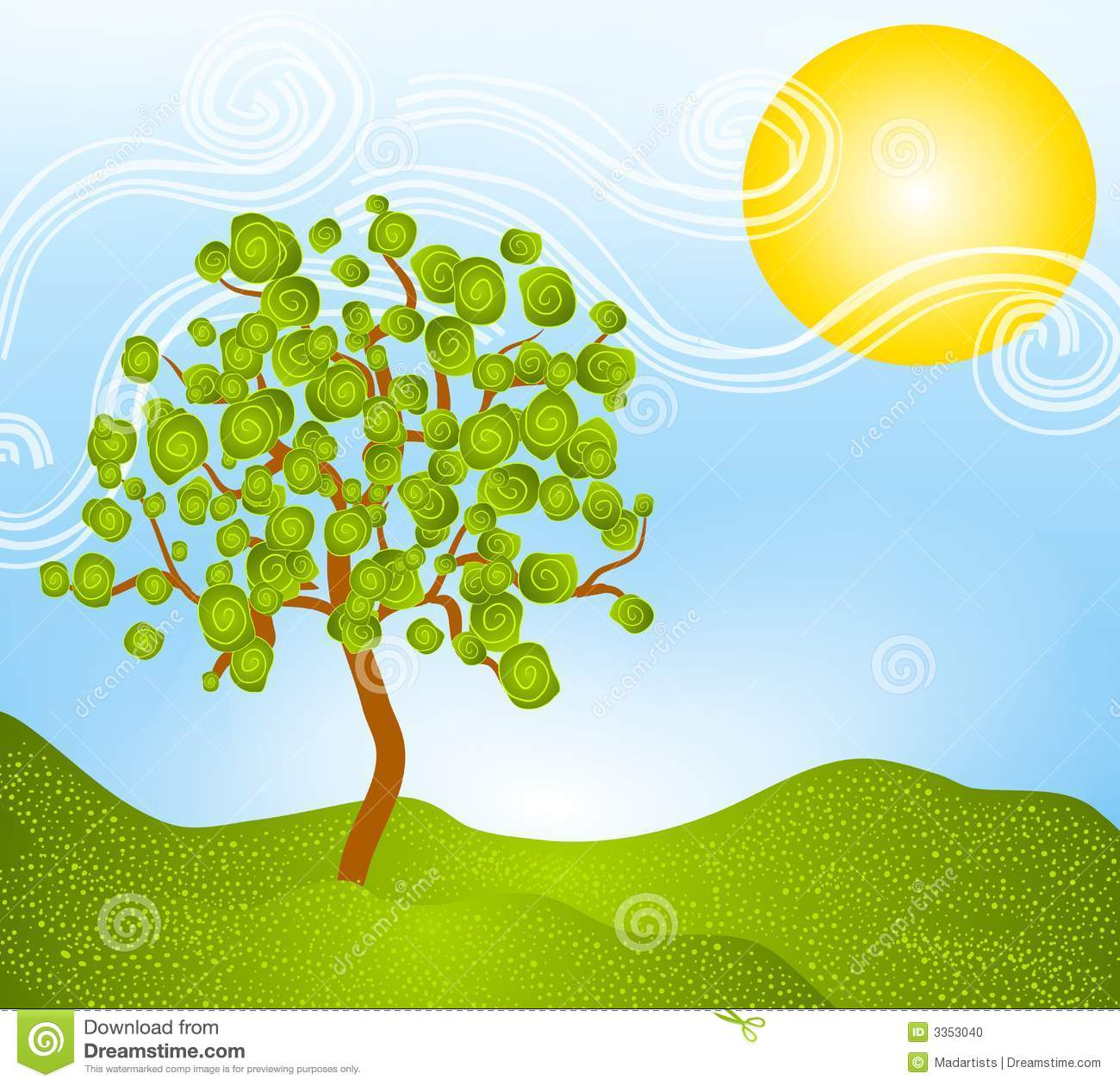 Displaying 15  Images For   Landscaping Clipart Tree