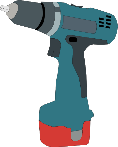 Electric Drill Battery Powered Clip Art At Clker Com   Vector Clip Art