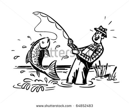 рыбак в лодке рисунок карандашом