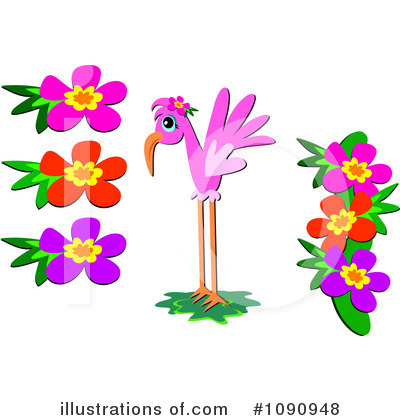 Flamingo Clipart  1090948 By Bpearth   Royalty Free  Rf  Stock