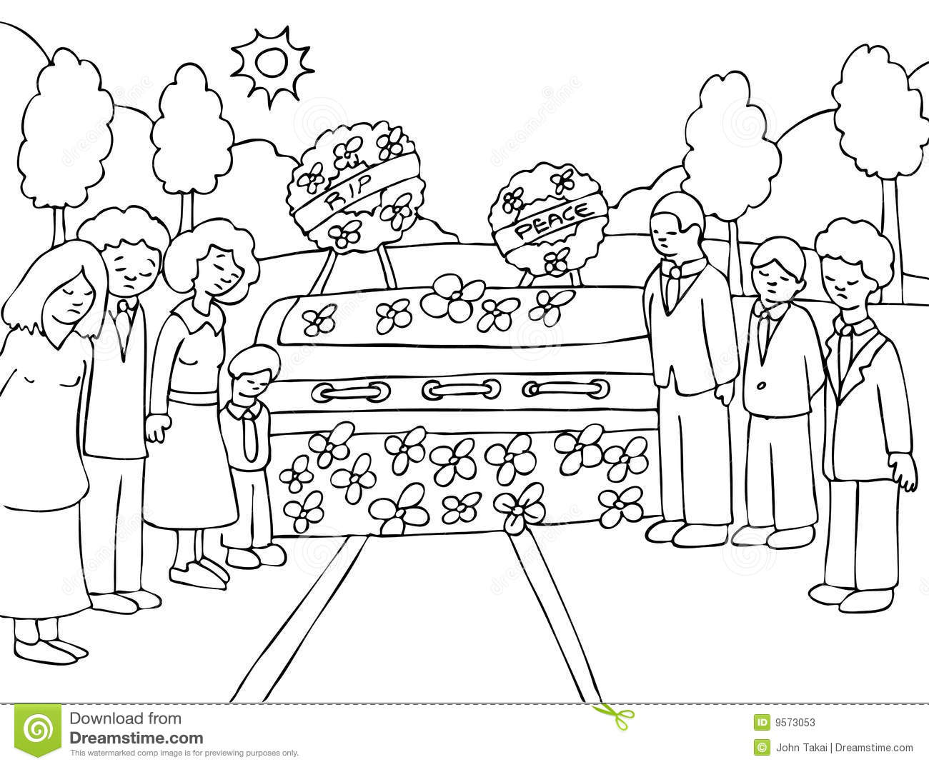 Funeral Service Event   Black And White Stock Photos   Image  9573053