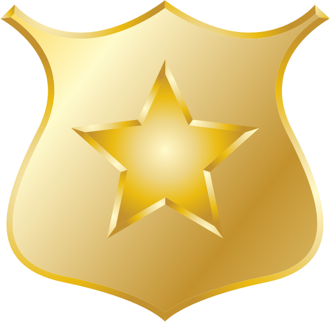 Gold Police Badge By Jhnri4   A Gold Police Badge With A Gold Star