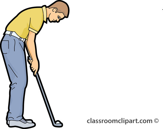 Golf Clipart   Putting Golf Ball 23   Classroom Clipart