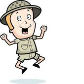 Jungle Explorer Eyes Clip Art