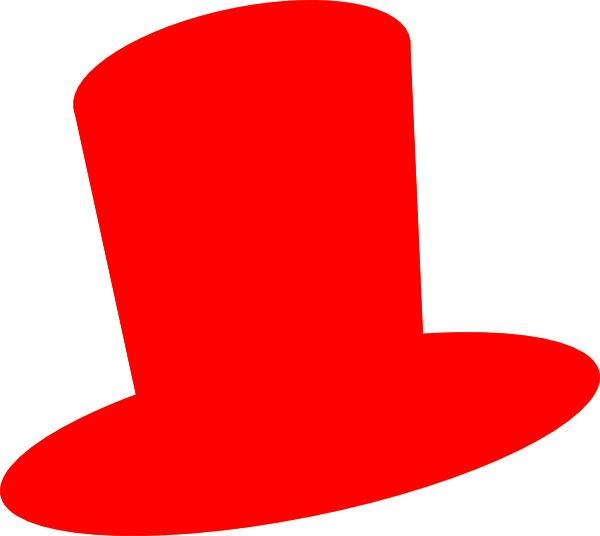 Red Top Hat Clipart - Clipart Kid