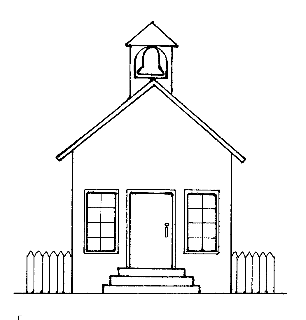 School Building Clipart Black And White Free Black And White School
