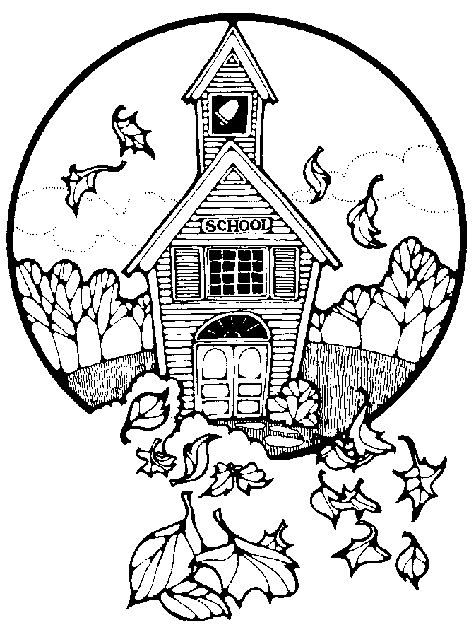 Search Terms Black And White Coloring Pages Country School Fall