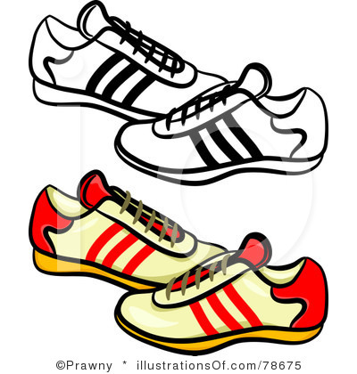 Walking Tennis Shoes Clipart - Clipart Kid