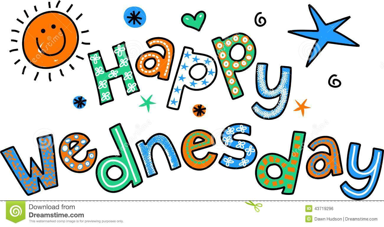 Clip Art Happy Wednesday Clipart happy wednesday clipart kid whimsical cartoon special occasion text that reads wednesday