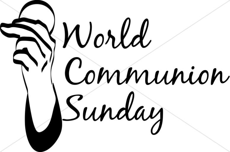 World Communion Sunday Script With Hand And Wafer