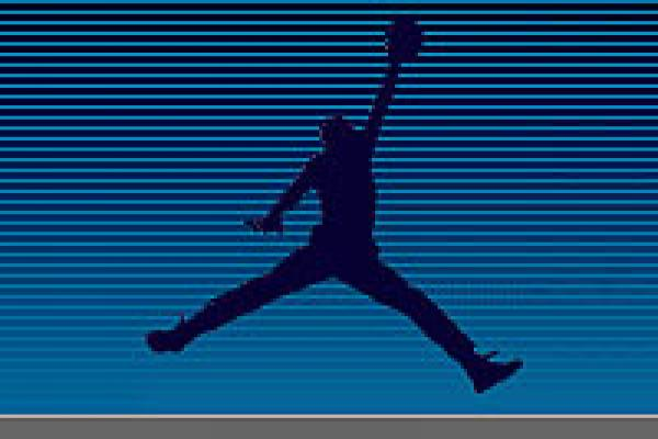 blue air jordan logo