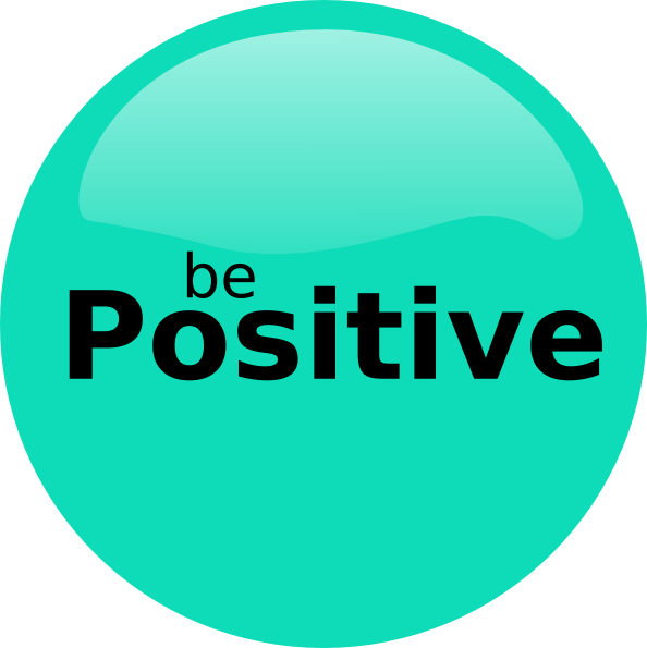 Be Positive Clip Art At Clker Com Vector Clip Art Online Royalty