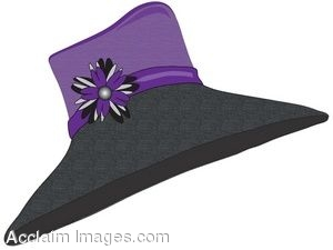 Clip Art Of A Ladies Straw Hat