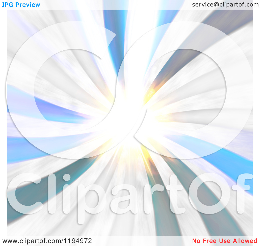Clipart Of A Radial Burst With Bright Light   Royalty Free Cgi