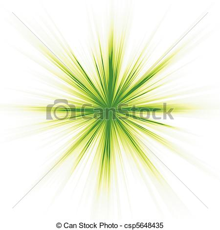 Clipart Vector Of Green Light Star Burst On White   A Green Burst On