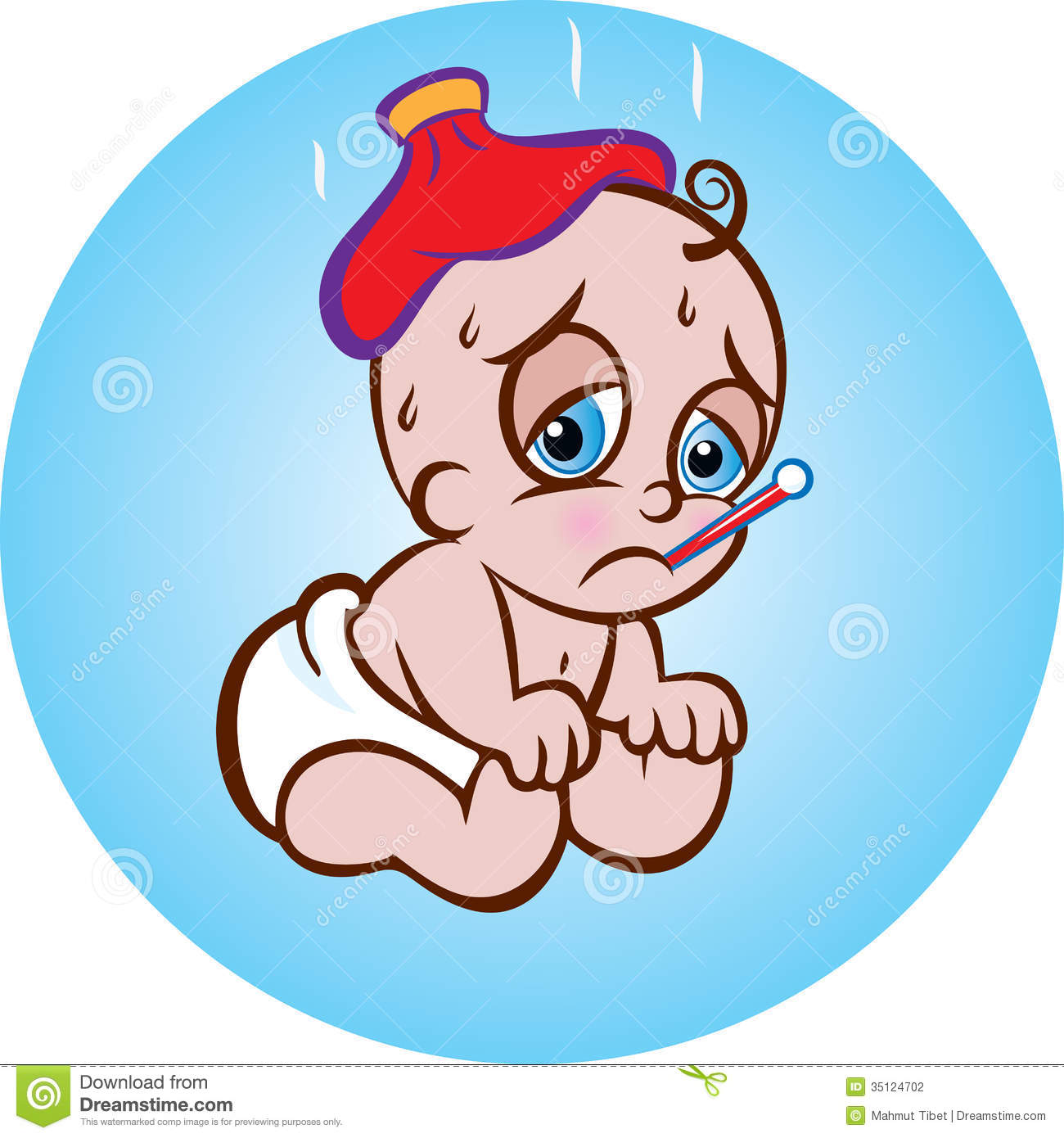 Sick Baby Clipart - Clipart Kid